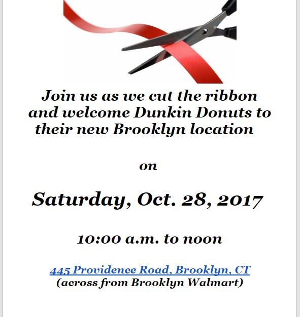 ribbon cutting dunkin donuts in brooklyn