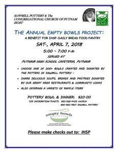 The Annual Empty Bowls Project @ Putnam High School Cafeteria, Putnam | Putnam | Connecticut | United States
