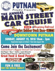 Main Street Car Cruise-Postponed to Sunday Aug. 19th @ Putnam | Connecticut | United States