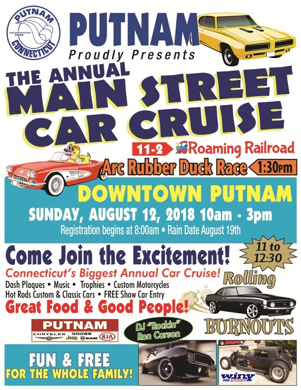 Main Street Car CruisePostponed To Sunday Aug Th Northeastern - Main street car show