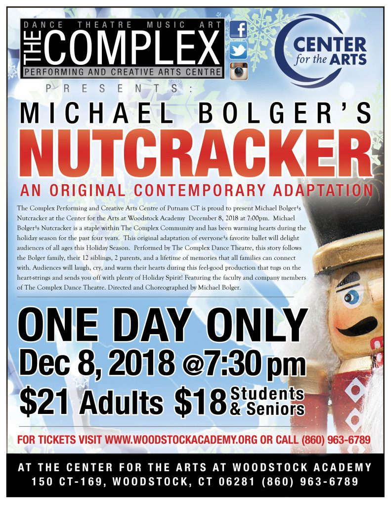 The Center for the Arts at Woodstock Academy Presents The Nutcracker