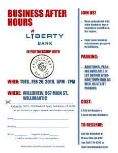 Liberty Bank & Willimantic Brewing Company host Business after Hours @ Willimantic Brewing Company