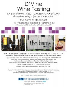 D'Vine Wine Tasting to Benefit the NECT Cancer Fund of DKH @ The Barns at StoneHurst Hampton Valley