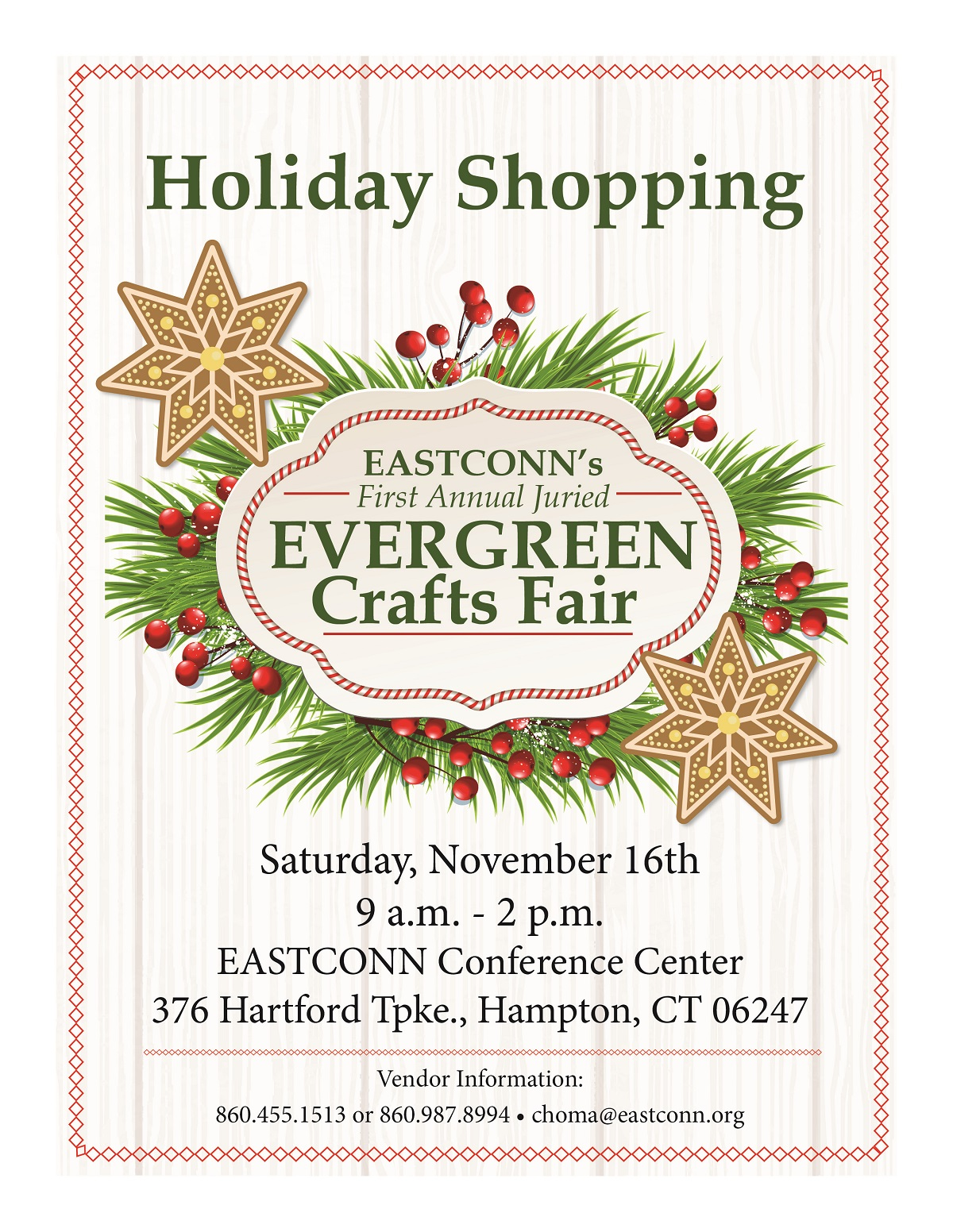 EASTCONN's first annual Evergreen Crafts Fair @ EASTCONN Conference Center