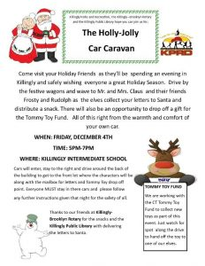 The Holly-Jolly Car Caravan to benefit the Tommy Toy Fund @ Killingly Intermediate School