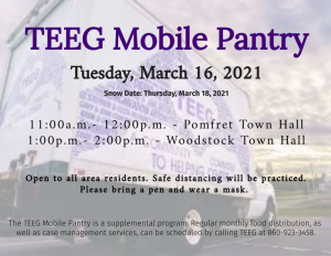TEEG Mobile Pantry @ Pomfret Town Hall