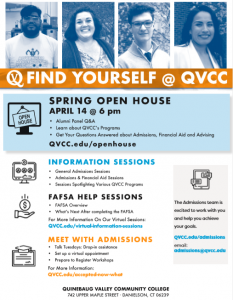 QVCC Spring Open House @ Quinebaug Valley Community College