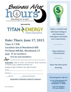 Business after Hours - Titan Energy @ The Inn at Woodstock Hill
